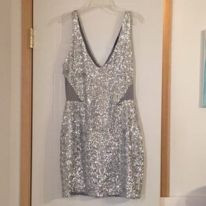 Sequined Bebe dress